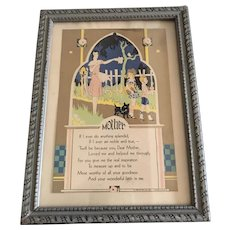 1930 Framed Motto for Mother's Day —Mother
