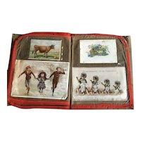 Victorian Child's Handsewn Fabric Scrap Album
