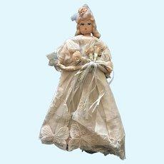 1940's/1950's Bridal Handkerchief Crepe Paper Doll
