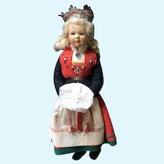 "Ronnaug Petterssen 12"" Doll in Hardanger Bride Costume"