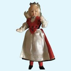 "Ronnaug Petterssen 7 1/2"" Doll in  Hardanger Bride Costume"