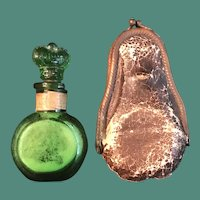 Victorian Crown Perfumery Lavender Salts Bottle and Case