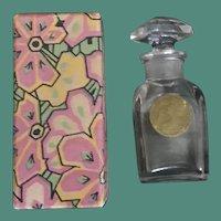 Houbigant Le Parfum Ideal in Original 1920's Art Deco Floral Box