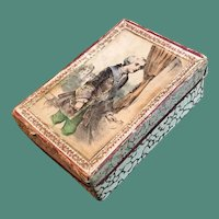 Mid 19thc Presentation Box with Image of a Gentleman