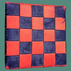 Early 20thc Woven Ribbon Shaker  Pinkeep