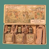 1920's Colgate Miniature Size Extracts Box with Three Bottles - Fun for Doll Display