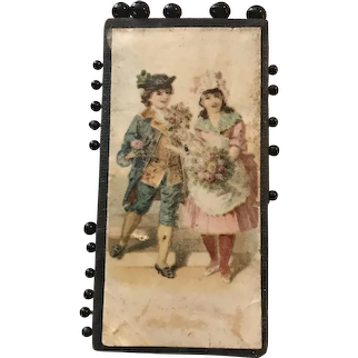 19th c German Pin Card - The Bouquet