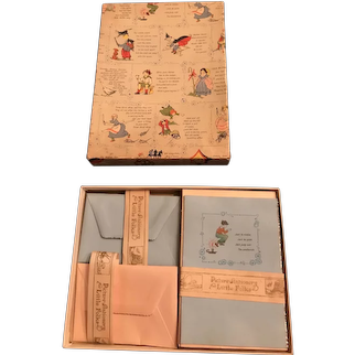 1930's Child's Mother Goose Stationery Box for Doll Display