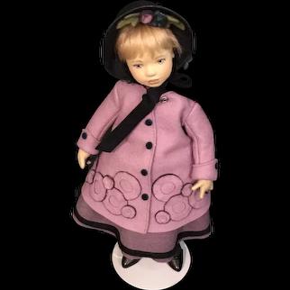 "Maggie Iacono Felt Doll  ""Amy"" - 2017 UFDC Regional Conference ""Little Women"""