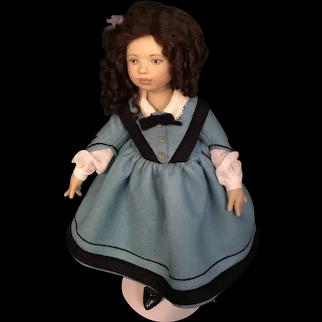 """Maggie Iacono  Felt Doll """"Jo"""" - 2017 UFDC Regional Conference """"Little Women"""""""