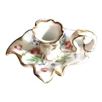 Old Paris Porcelain Chamber Stick