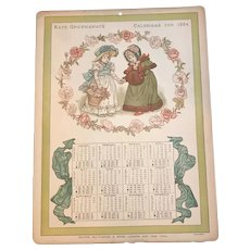 Kate Greenaway's Calendar for 1884 for Doll Display