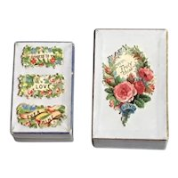 Pair of  19thc Valentine's Day Trinket Boxes