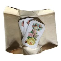 Set of Six 1880's Calling Cards in Original Wrapping