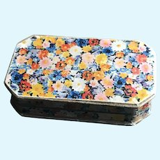 Hinged Floral Trinket Box for  Doll Display