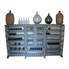 Primitive wooden Wine Rack from the French Auvergne mountain region