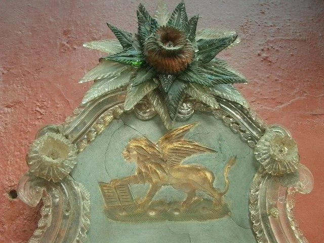 Rare Venetian Glass Painting : Relic Antiques of London ...