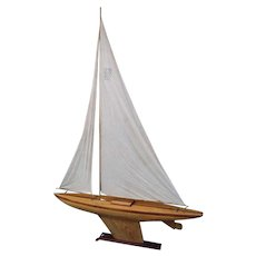 19thC  Pond Yacht Sailer from Scotland