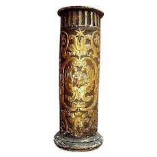 Carved Gilded  Column from 18th C. Italy