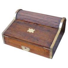 19th C. Camphorwood Campaign Writing Box