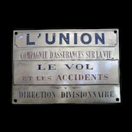 Brass Insurance Plaque