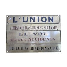Brass Insurance Plaque