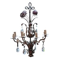 Italian Chandelier with Baccarat crystal droplets