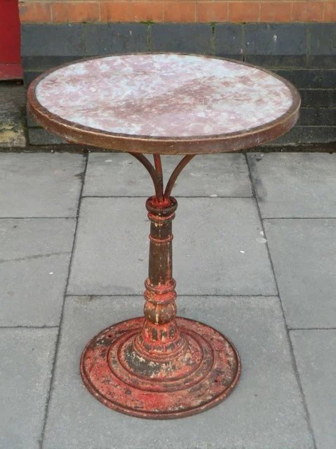 Beautiful Caf 233 Table From Paris Brasserie Relic Antiques