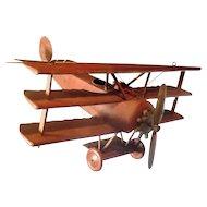 Large Vintage Triplane Model