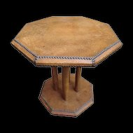Vintage Leather covered Coffee Table