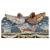 Pair of Vintage Decoys from the Camargue Delta in Southern France
