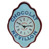 Original Vintage Advertising Clock 'Chocolat Revillon' from France