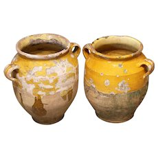 Pair of Earthenware 'Confit' Pots from France