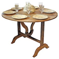Wine Harvest Folding Table from France