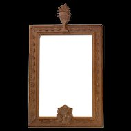 Early Carved Picture Frame from France.