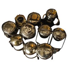 Collection of Vintage Champagne Bottle Clamps