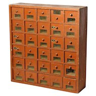 Small Bank of Drawers from a French Shop.