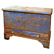Antique Painted Pine Coffer from Denmark