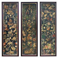 3 Victorian Scrap Screen Panels from England.