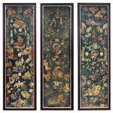 3 Victorian Scrap Screen Panels from England.