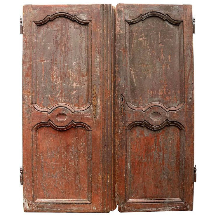 Pair of \'Decadent\' Antique Armoire Doors from France : Relic ...