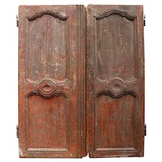 Pair of 'Decadent' Antique  Armoire Doors from France