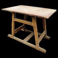 Vintage Artisans' Work Table from France