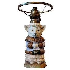 Rare 'William Whitely' Fox Oil Lamp