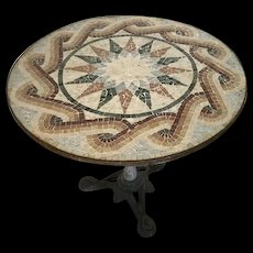 Mosaic-Top Bistro Table from Italy.
