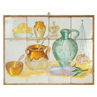 Vintage Tiled French Kitchen Scene