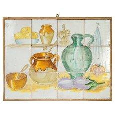 Vintage Tiled French Kitchen Scene
