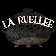 Painted Iron Restaurant Sign from France