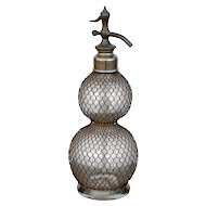 Original 19thCentury 'Double Ball' 'Seltzogene' Soda Siphon from France