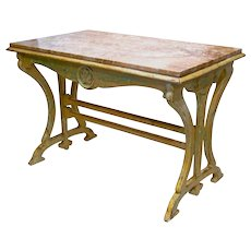 Beautiful 'Nougat' Table from  Art Nouveau period Patisserie in France.